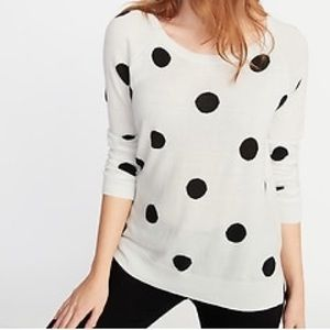 Crew-Neck Sweater by old navy in polka dot